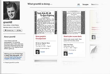 Profile page on Reno Gazette-Journal Archive
